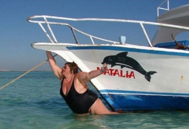 la capitaine du jour : natalia (nage avec le dauphin)